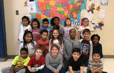 "During the month of December, Balinda Denton and Christy Littlejohn's classes at New Albany Elementary School participated in The Gingerbread Exchange. First grade students all across the country created gingerbread crafts and exchanged classroom letters. Denton says, ""Students were so excited to receive mail and display the craft on the U.S. map."" Letters were received from California, Illinois, Tennessee, Texas, New Jersey, Wisconsin, Oregon, North Carolina, and Pennsylvania. This activity helped students learn how to locate states on the map. The classroom letters told information about students' schools and towns. Littlejohn says, ""It is a great experience that my students enjoy participating in each year."""