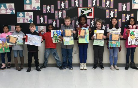 New Albany Garden Club sponsored the Smokey Bear & Woodsy Owl poster contest at New Albany Elementary School. Pictured are the winners l-r: Emily Murff (Art Rotation Teacher), Kaden McGee, Maci Carruthers, Alondra Fonseca, Katie Flores, Riley Hill, Emmanuel Simpson, Caleb George, Elana Crayton, Seth Wimberley, Jackie Guerrero, Mehek Parida, Cedric Flemons, and Tanya Coombs (New Albany Garden Club)