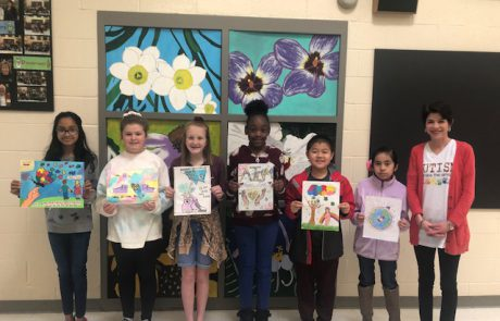 Winners of the 1st Annual Autism Awareness Month Art Contest from New Albany Elementary School are as follows (left to right): Mehek Parida, 1st place; Carly Pegues, 2nd place; Lizzie Moore, 3rd place; Elana Crayton, 4th place; Christopher Chen, 5th place; and Katie Flores, 6th place. The winning students' art work will be on display at Union County Heritage Museum during the month of April. The contest was sponsored by Jennifer Sechrest Photography.